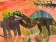第7回恐竜図画作品コンクール「恐竜を描こう」 【佳作】今村莉々香(小4)